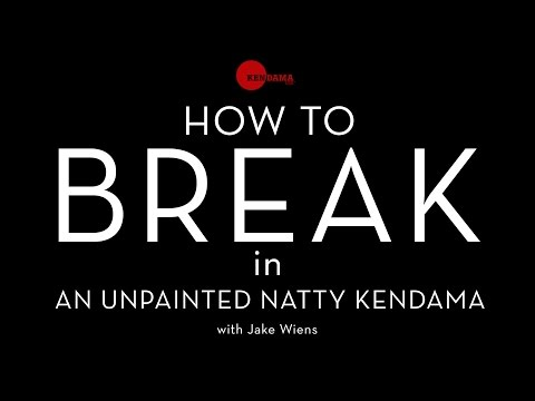 "Kendama USA Presents - How to break in your unpainted ""Natty"" kendama."