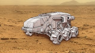 Planetary Rover Concept Art + Subscriber Update!!!