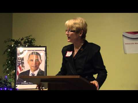 DWSS: IDW President Jill Morgenthaler before the Democratic Women of the South Suburbs