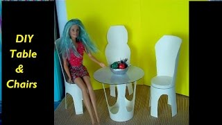How To Make A Doll Table & Chairs