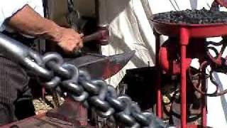 Knurling Curling Iron Old West Blacksmith Anvil Randsburg Calif