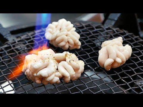 Japanese Street Food - FISH SEMEN Sashimi Okinawa Seafood Japan