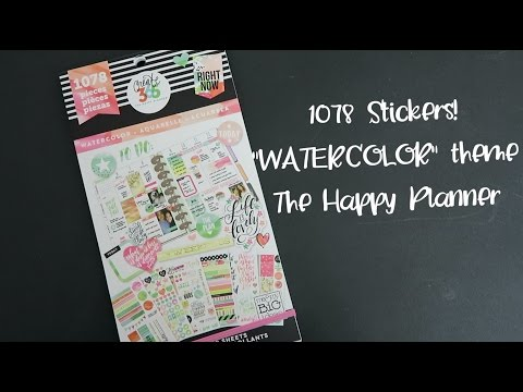 "1078 Stickers! The Happy Planner ""WATERCOLOR"" Sticker Value Pack Flip-Through"