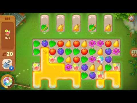 Как пройти 188 уровень в игре gardenscapes