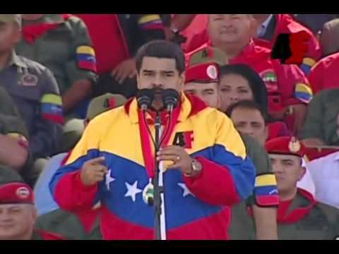Presidente Nicolás Maduro en el 23 aniversario del 4 de Febrero de 1992