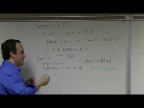 Linear Algebra: Lecture 30: eigenspace decompositions, orthonormality