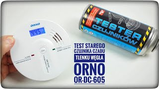 Test czujnika czadu (tlenku węgla)