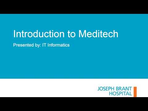Introduction to Meditech
