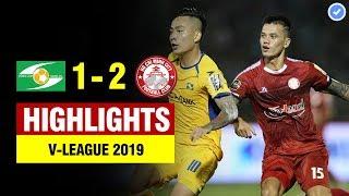 Hightlights: SLNA 1-2 TP.HCM   Trung vệ thay thế Đình Trọng với màn săn Tây chào hàng khán giả VN
