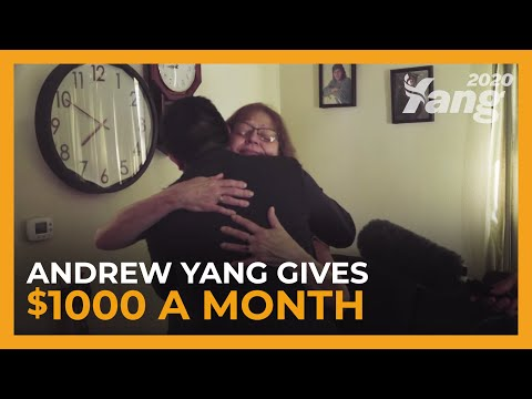 Andrew Yang Gives $1k/Month to an Iowa Resident