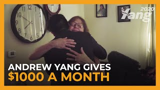 Andrew Yang Gives $1000 a Month