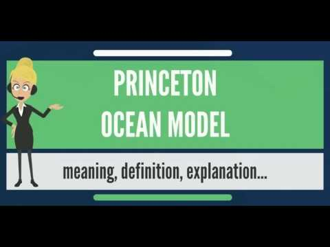 What is PRINCETON OCEAN MODEL? What does PRINCETON OCEAN MODEL mean?