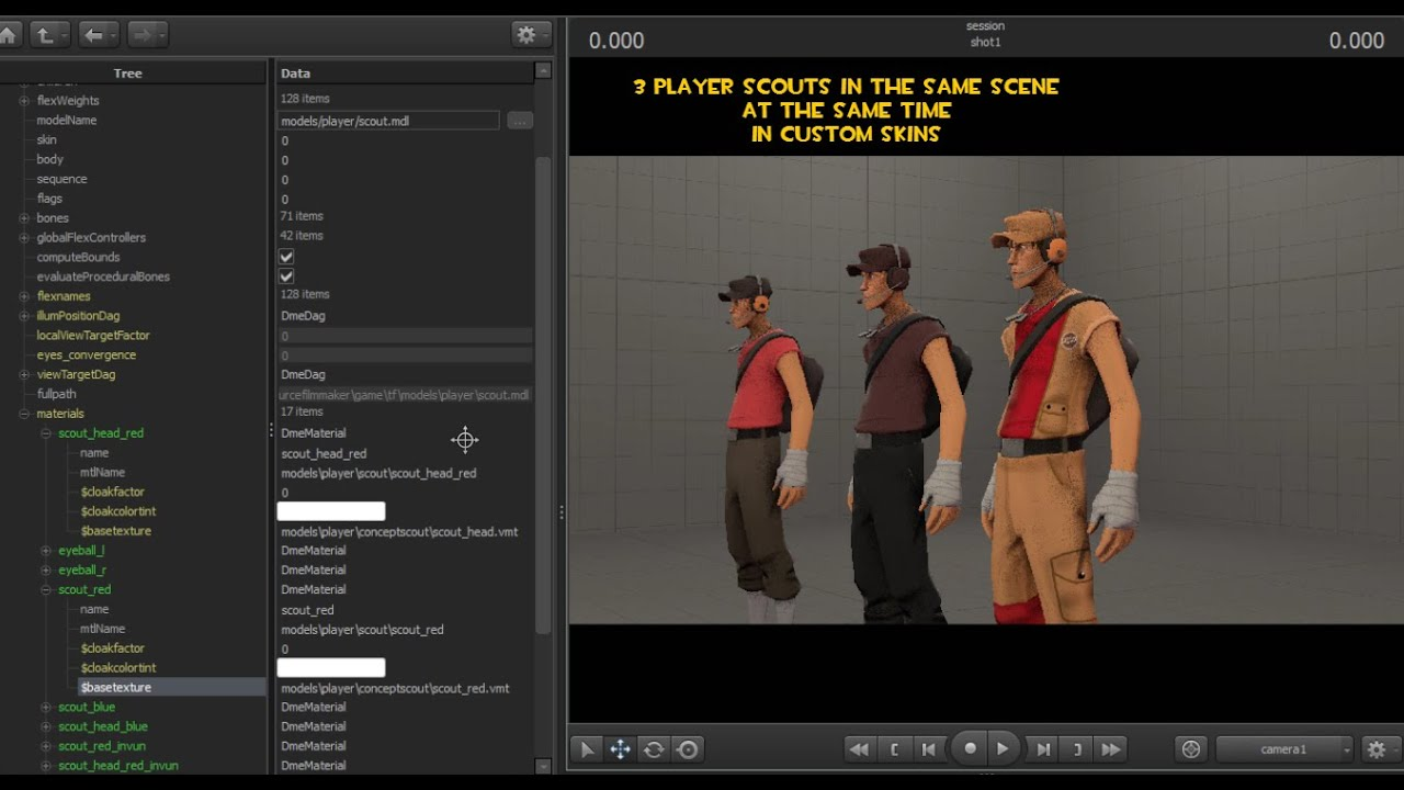 SFM - How to Apply Multiple Custom Skins on different instances of a Model  in SFM