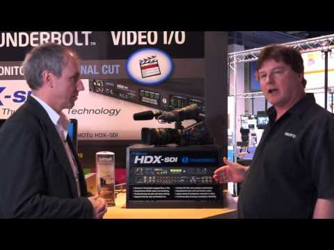 Motu display the HDX-SDI with Thunderbolt at NAB 2013