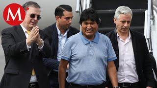 Así fue la llegada de Evo Morales a México