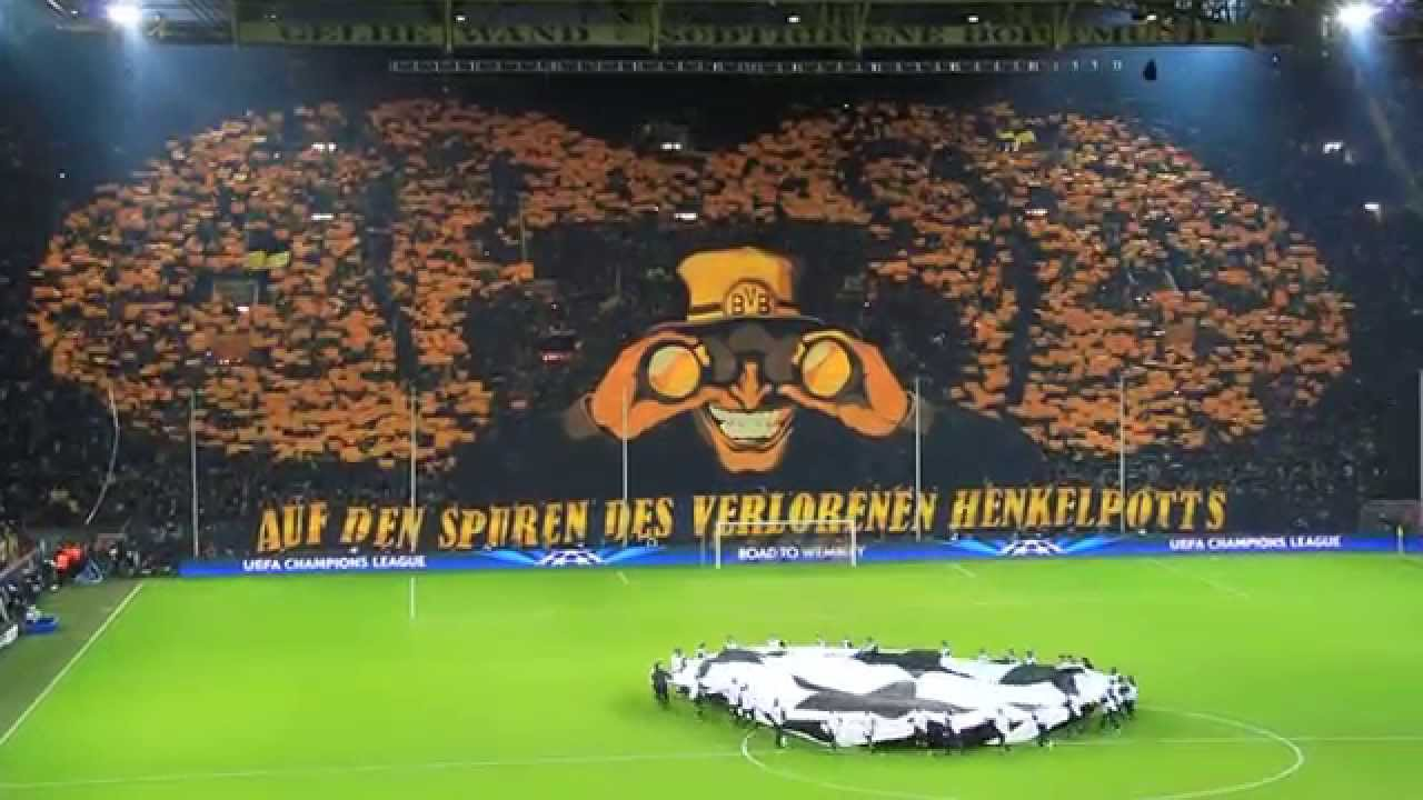 bvb s dtrib ne choreo cl viertelfinale borussia. Black Bedroom Furniture Sets. Home Design Ideas