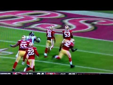 NaVorro Bowman Game Winning Pick-6 vs. Falcons in Last game at Candlestick Park