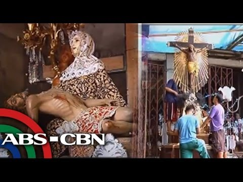Laguna town gears up for Good Friday procession