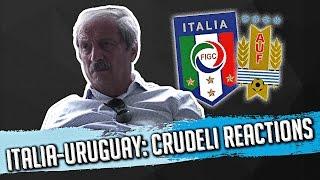 ITALIA - URUGUAY: TIZIANO CRUDELI REACTIONS