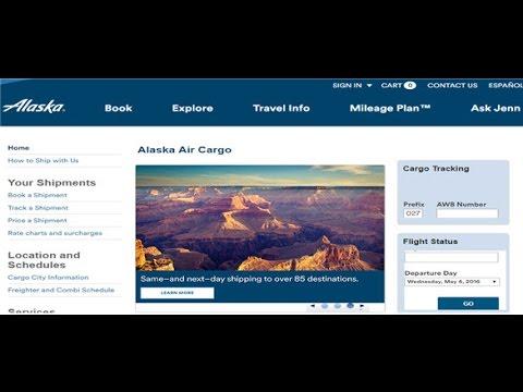 Alaska Airlines Cargo Tracking,Alaska Airlines Air Cargo Tracking Status