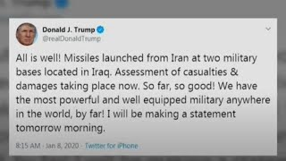 Trump says 'all is well' after Iran's missile attack