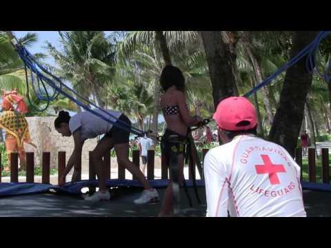 Kaitlyn On The Trampoline @ Barcela Maya Beach Resort, Riviera Maya Mexico