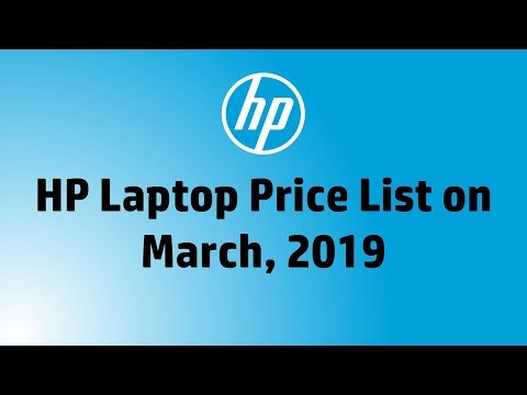 HP Laptop Price List On March, 2019