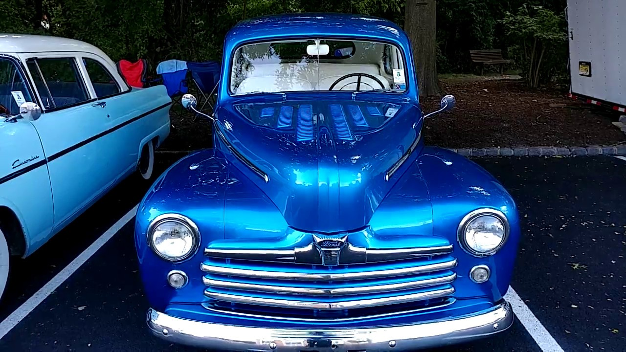 1948 S10 Metallic Electric Blue Ford 2 Door Coupe