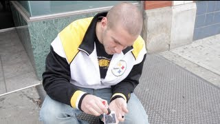 iPhone Glued to Ground Prank (Carson Street, Pittsburgh)
