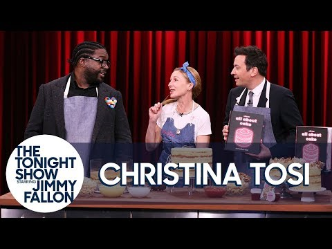 Milk Bar's Christina Tosi Teaches Jimmy and Questlove How to Make a Popcorn Cake