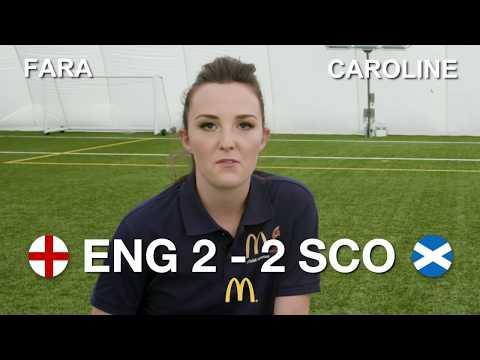 UEFA Women's EURO 2017 England v Scotland football skills challenge