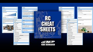 team associated rc cheat sheets app mobile app features