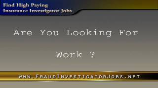 Insurance Investigator Jobs | Insurance Fraud Investigator Employment