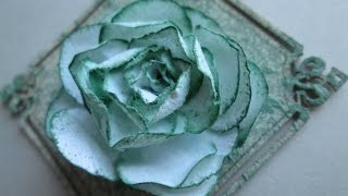Скрапбукинг / Ажурная роза / Цветы из бумаги своими руками / openwork rose paper(Видео как сделать из бумаги цветок - ажурную розу. Используется для скрапбукинга, при изготовлении открыток..., 2016-09-07T18:54:24.000Z)