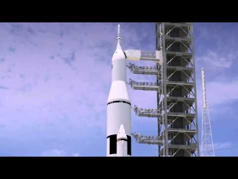 Space Launch System Animation