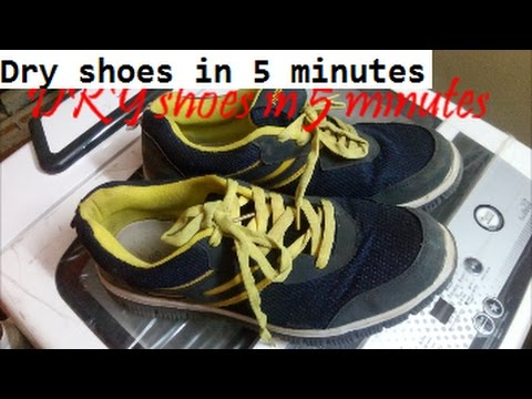 fa4769623adf How to dry shoes in five minutes using a washing machine dryer  dry your shoes  quickly fast