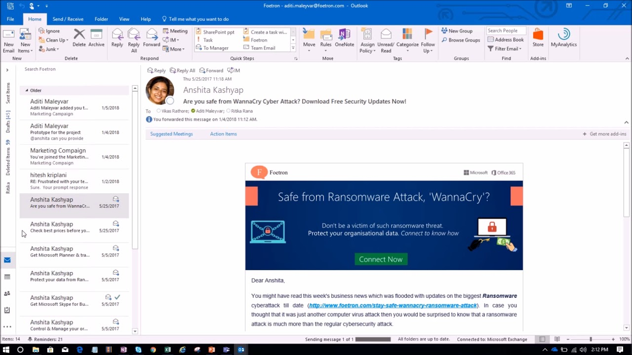 How Can I Recall A Sent Email In Microsoft Outlook 2016 Youtube