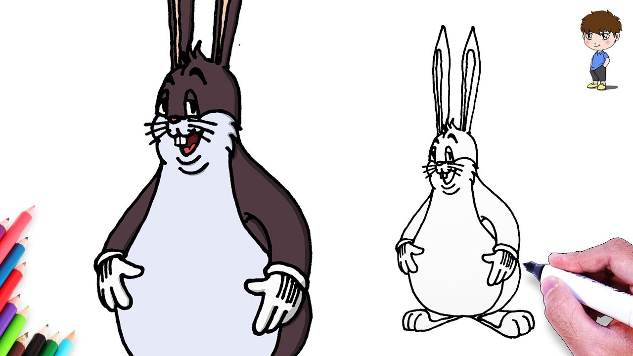 Big Chungus Coloring Sheets - Coloring wall