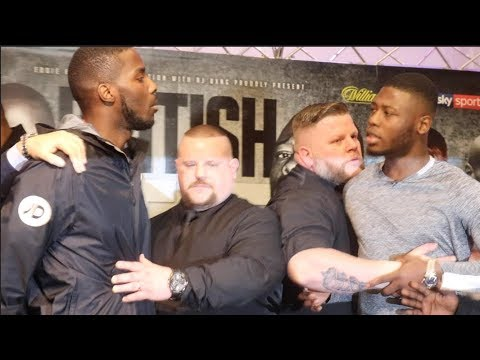 BRITISH BEEF!  LAWRENCE OKOLIE v ISAAC CHAMBERLAIN GET INTO IT DURING HEATED HEAD TO HEAD