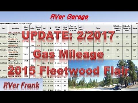 412-2015 Fleetwood Flair 26E-UPDATE Gas mileage