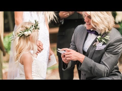 OUR WEDDING VIDEO!!!  *Vows to 4 year old daughter*