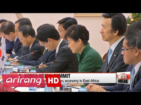 Leaders of S. Korea, Kenya discuss trade, economic development, N. Korea denuclearization