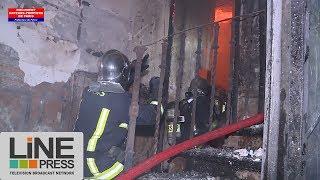Violent incendie dans un appartement / Paris - France 23 août 2017
