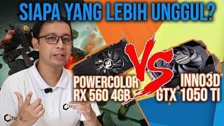 VGA 2 Jutaan Libas PUBG : Powercolor RX 560 4GB Vs Inno 3D GTX 1050Ti 4GB ! Siapa yang lebih unggul