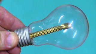 Узнав этот секрет вы больше никогда не выбросите перегоревшую лампочку!!!
