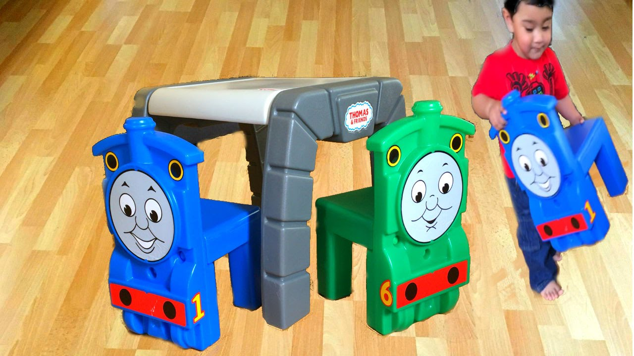 Thomas And Friends Little Tikes Chairs Table Percy Mcqueen Egg Surprise
