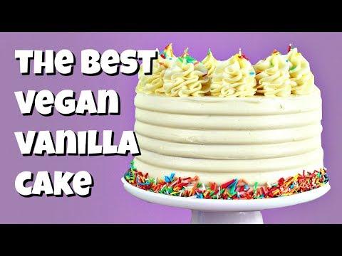 How To Make The Best Vegan Vanilla Cake