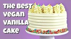 The Best Vegan Vanilla cake Recipe || Gretchen's Vegan Bakery