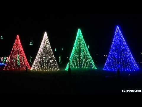 Christmas Light Show 2013 - Carol of the Bells (Nashville, TN)
