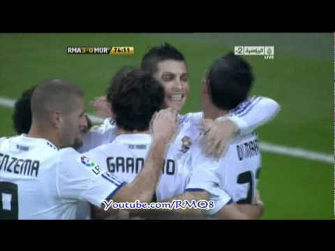 Real Madrid Vs Real Murcia All Goals [ 5-1 ] Away Round 32 Copa del Rey 2010-2011